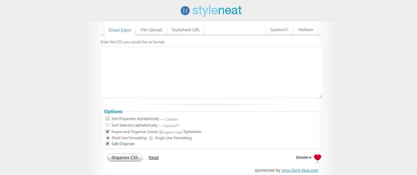 Styleneat - CSS Organizer