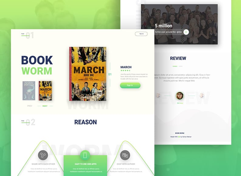 Book-Worm---landing-page-design-by-rohan-rahian---Dribbble