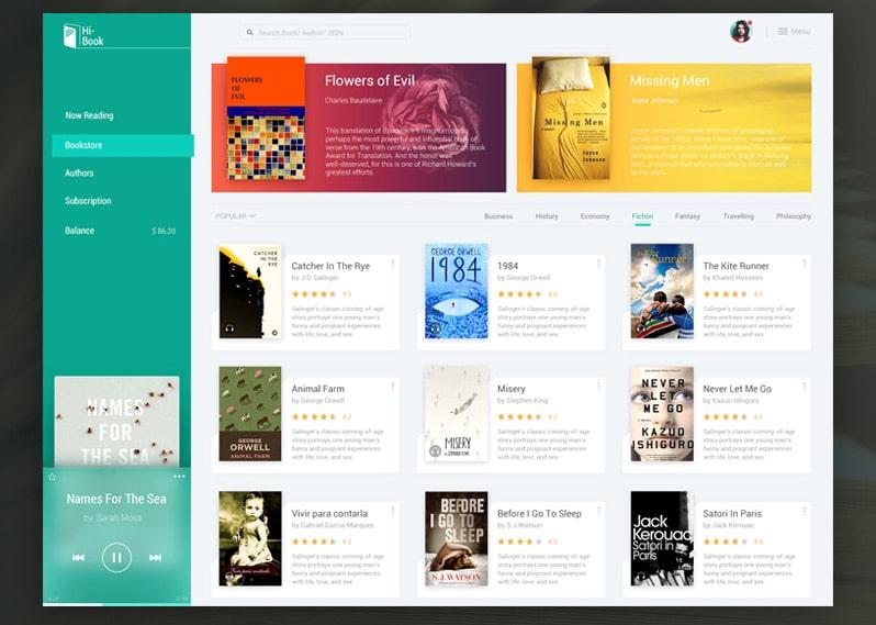e-Book-&-Audio-Book-by-Huikang---Dribbble