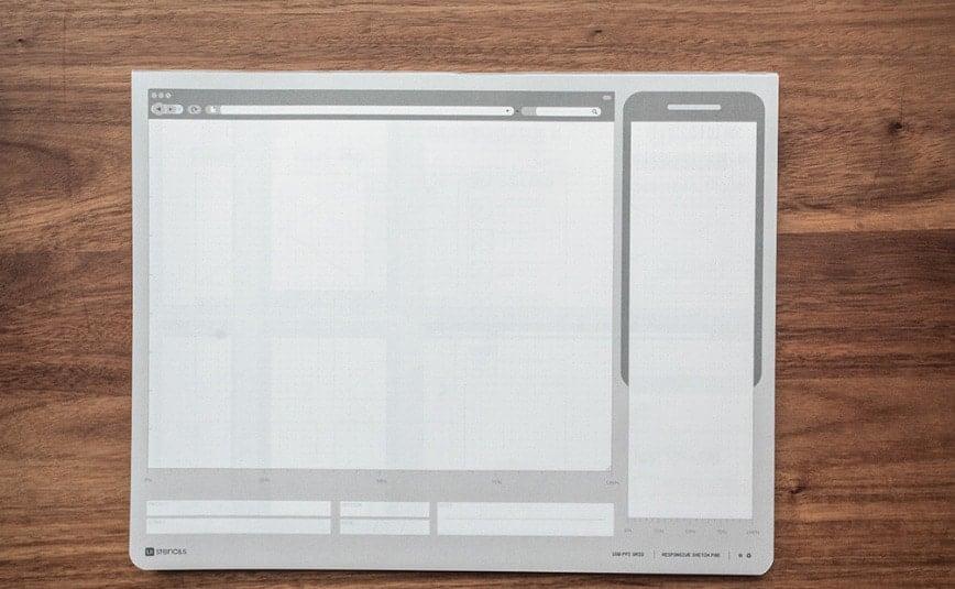 UI Stencils Responsive Sketch Pad