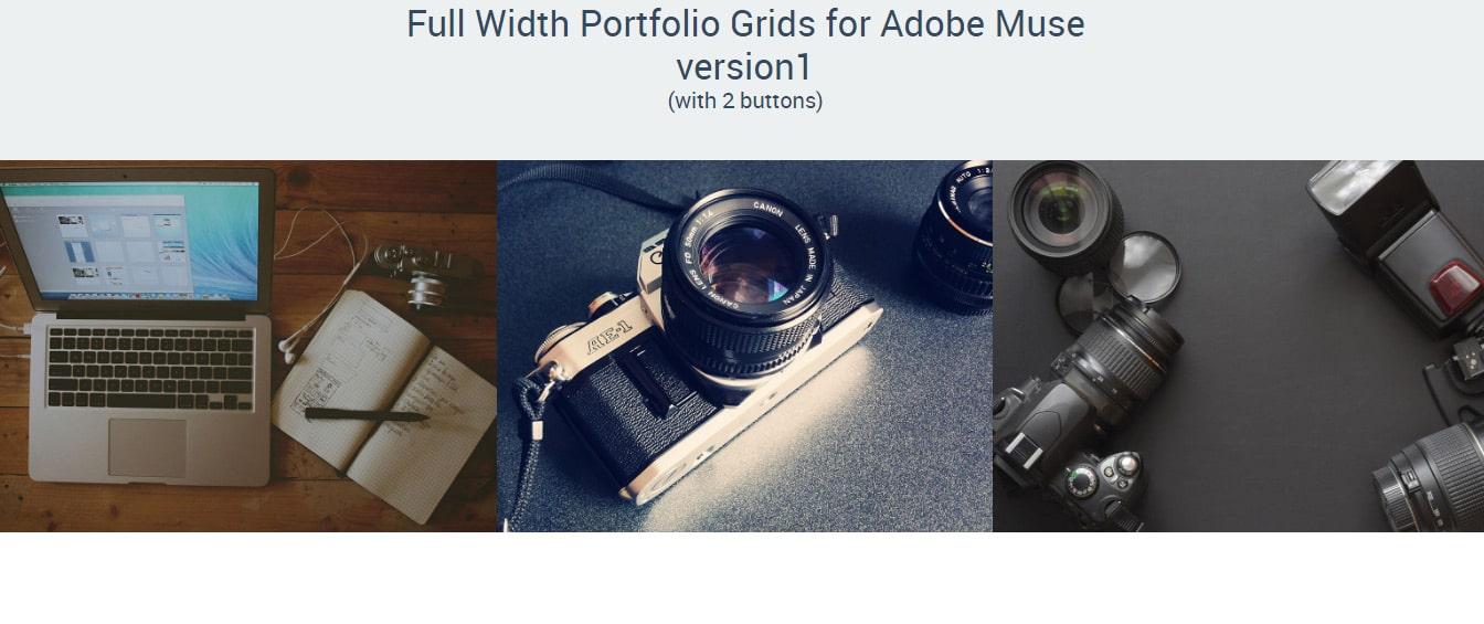 Full Width Portfolio Adobe Muse