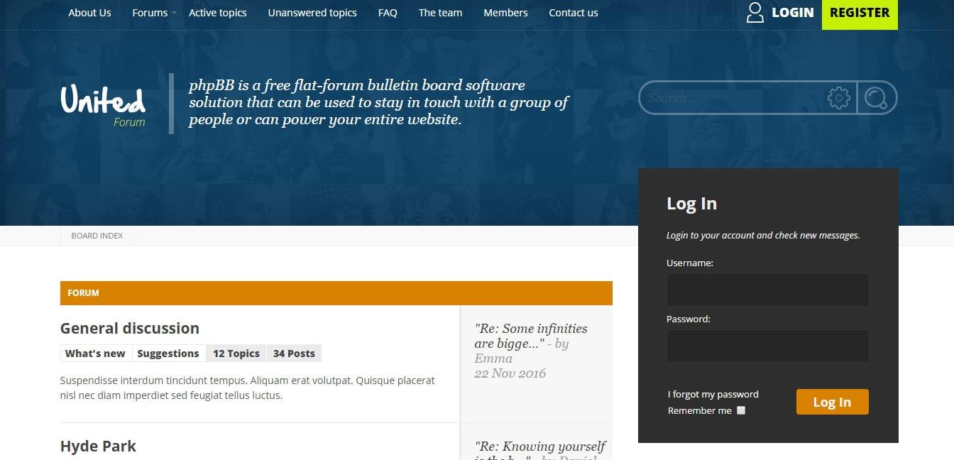 Diabolique Design Index page Forum Website Templates