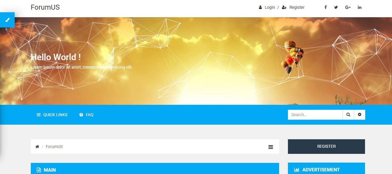 ForumUS Forum Website Templates