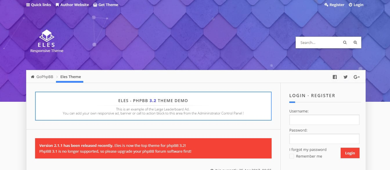 Eles Responsive phpBB Forum Website Templates