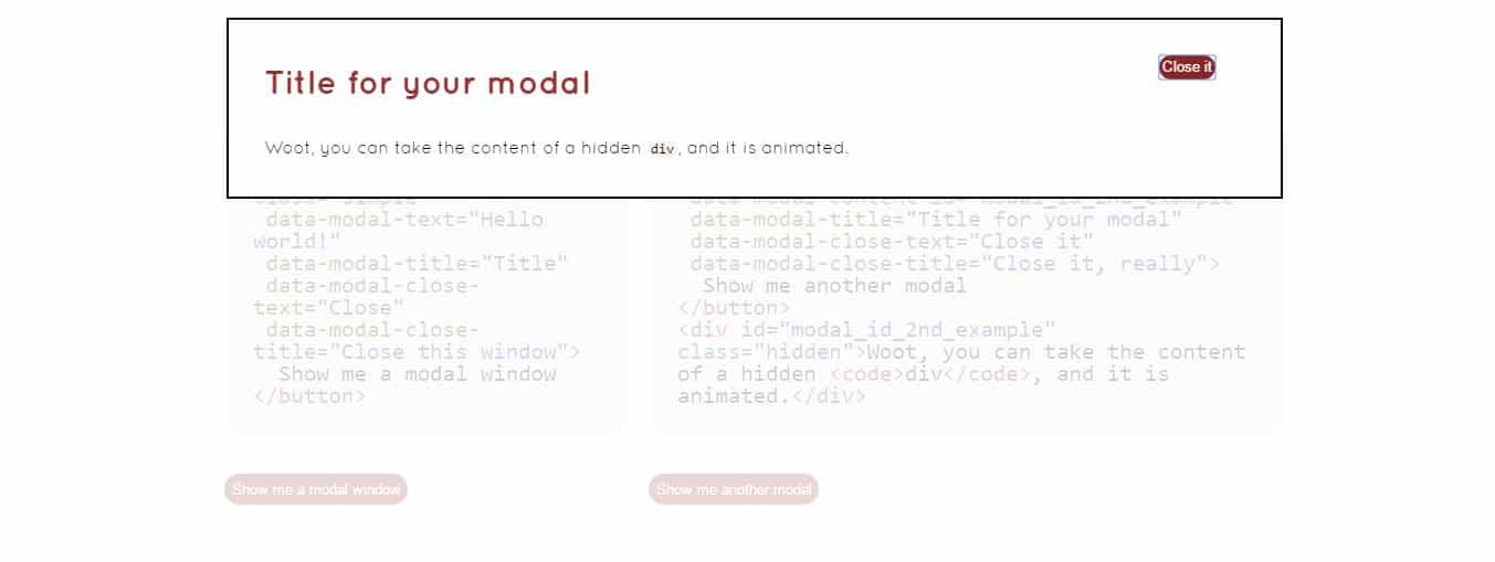 jQuery simple modal window