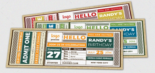 Invitation ticket design