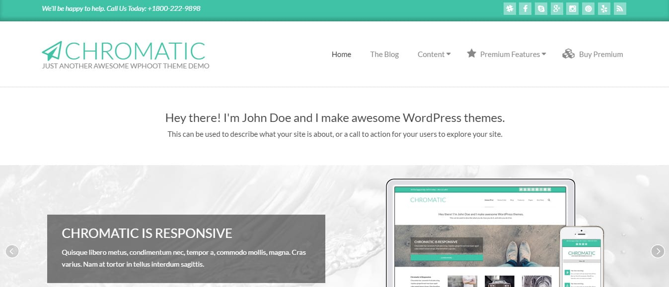 Chromatic Material Design WordPress Theme