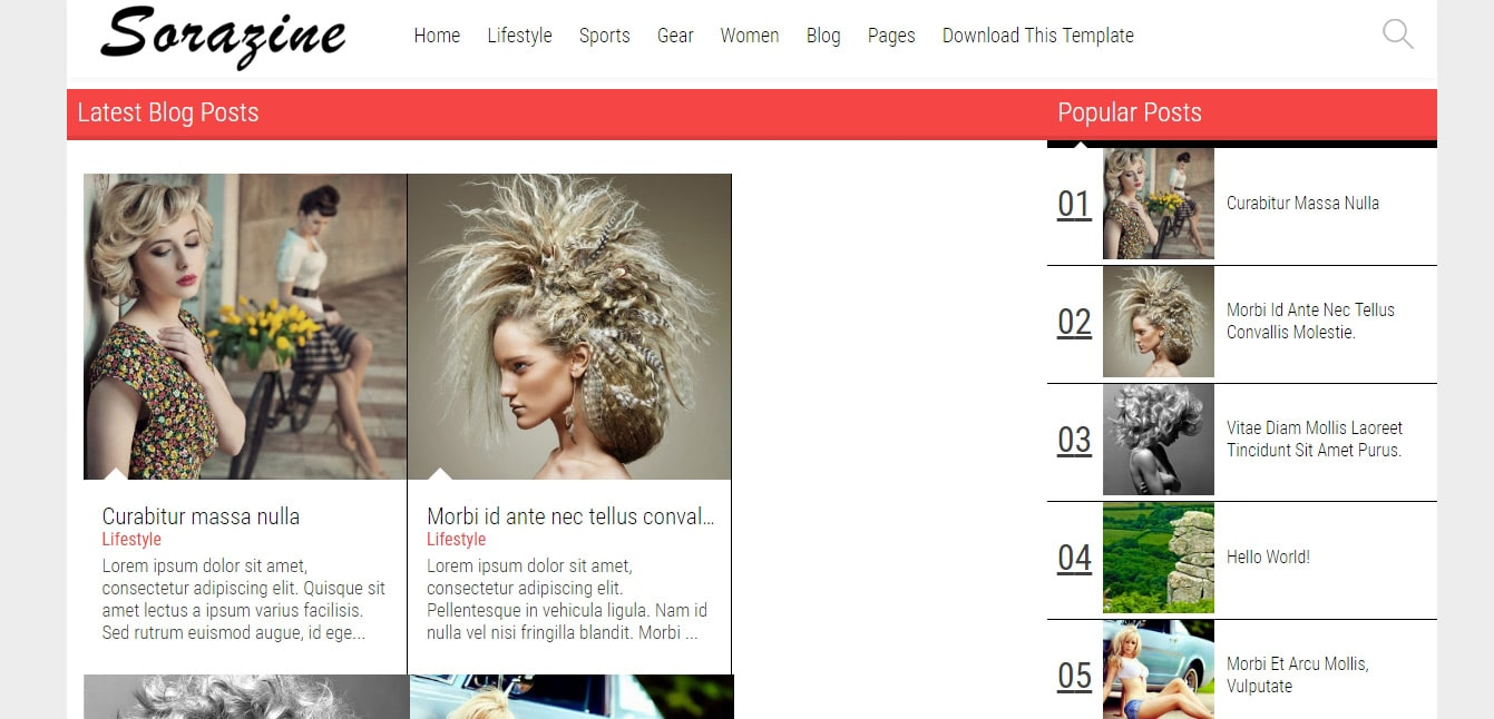Sorazine Blogger Template