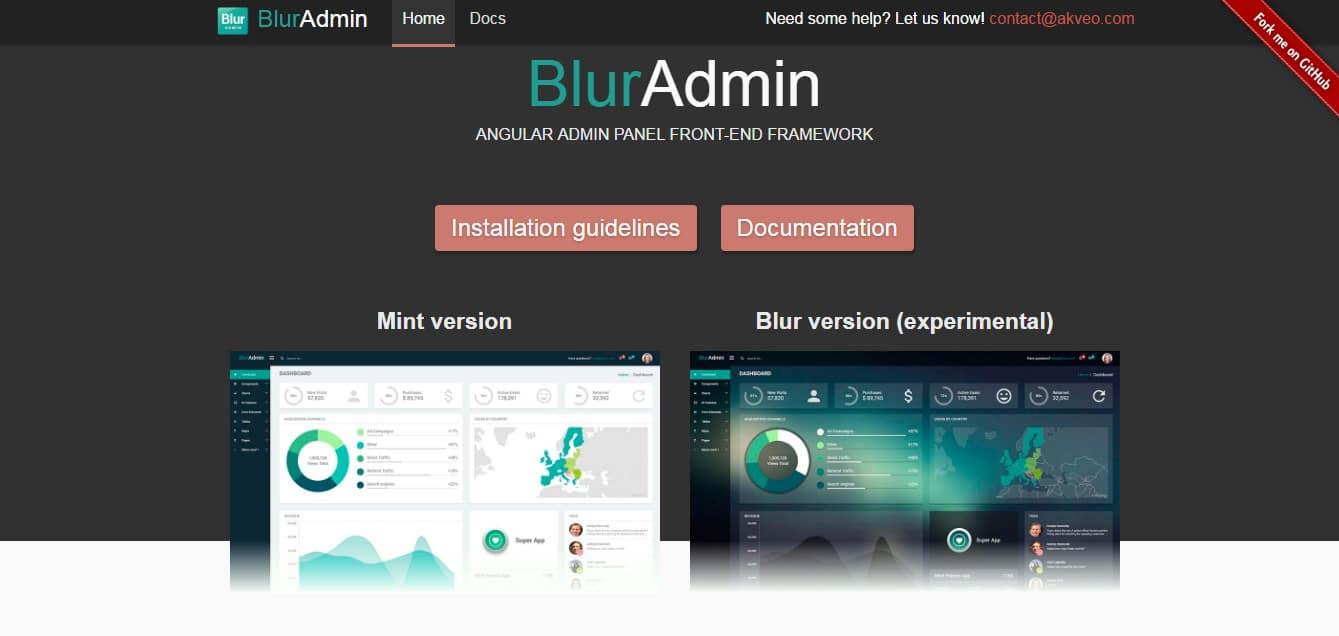 BlurAdmin AngularJS Tools Web Developers
