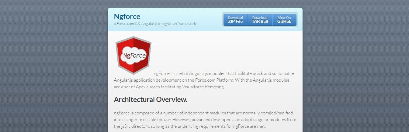 Ngforce Angular JS Tool for Web Developers