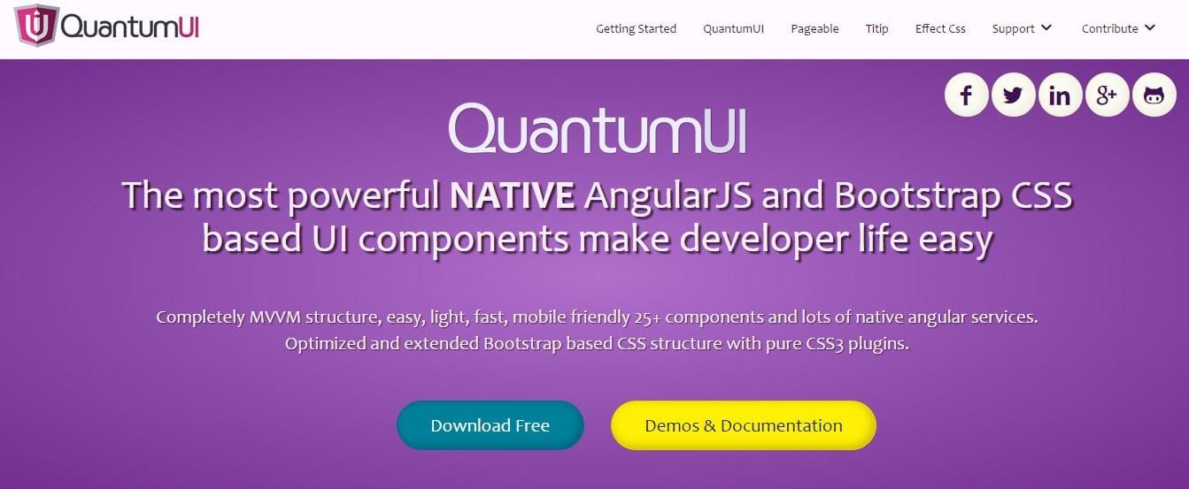QuantumUI Angular JS Tool for Web Developers