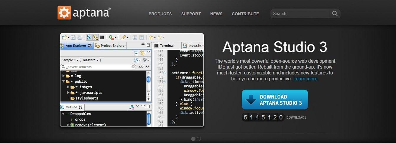Aptana Angular JS Tool for Web Developers