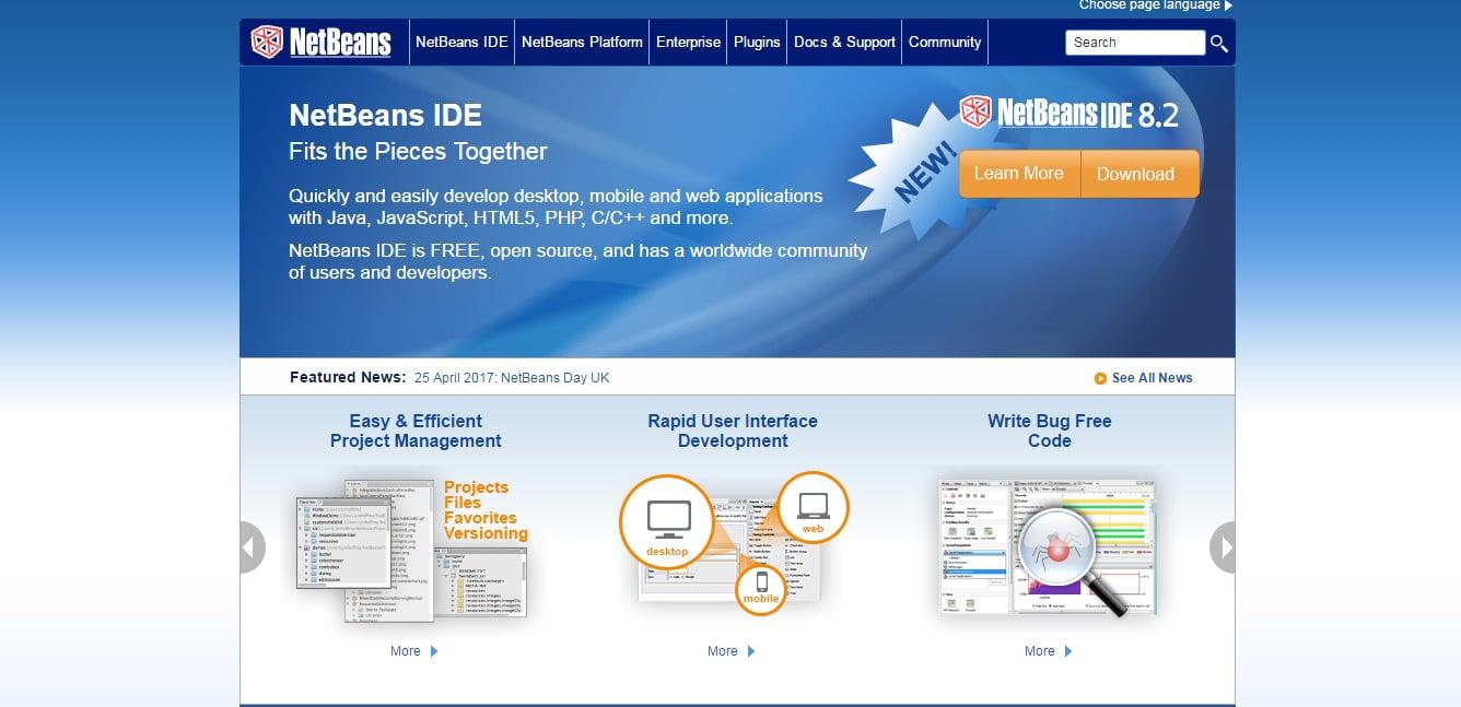 NetBeans GUI Less Compiler