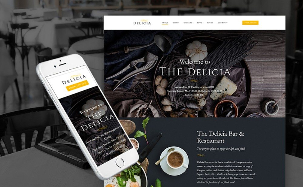 16-Responsive WordPress Theme for Restaurant