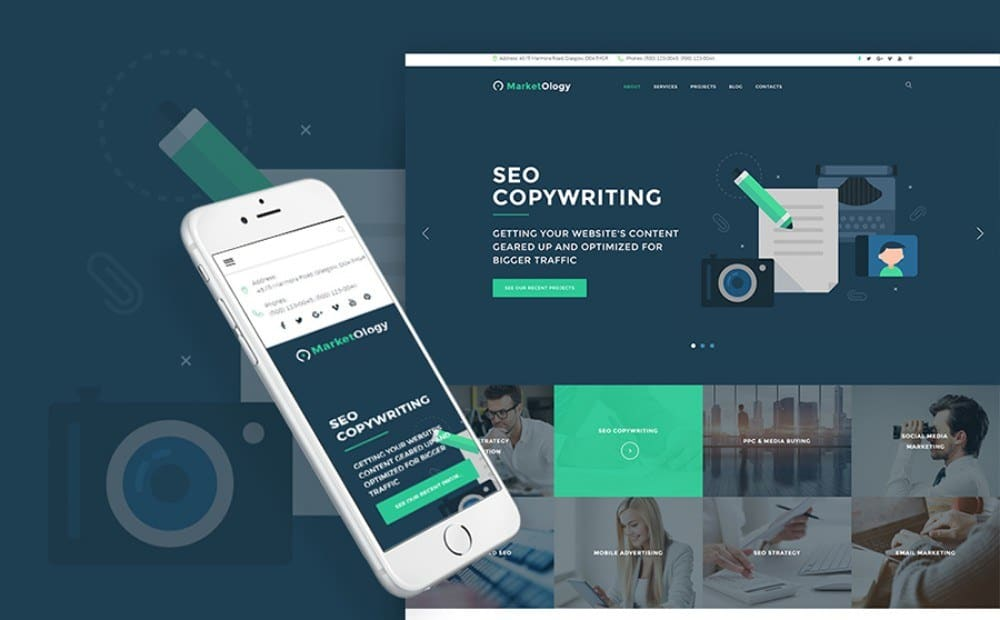 19-Responsive WordPress Theme for SEO and Marketing Agency