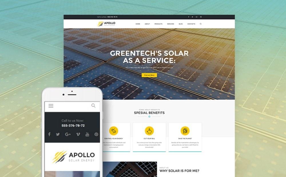 20-Responsive WordPress Theme for Solar Energy Company