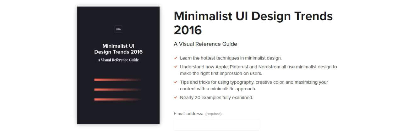 Minimalist UI Design Trends