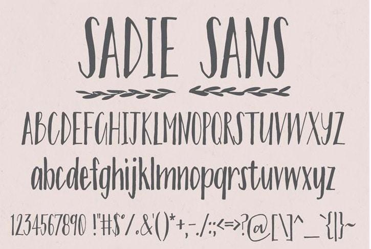 Sadie Sans free condensed Font