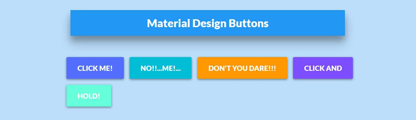 Material Design Buttons