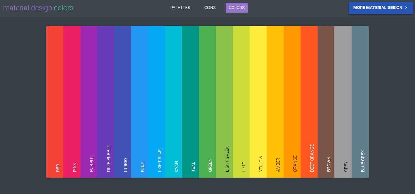 Material Design Colors - Material Palette