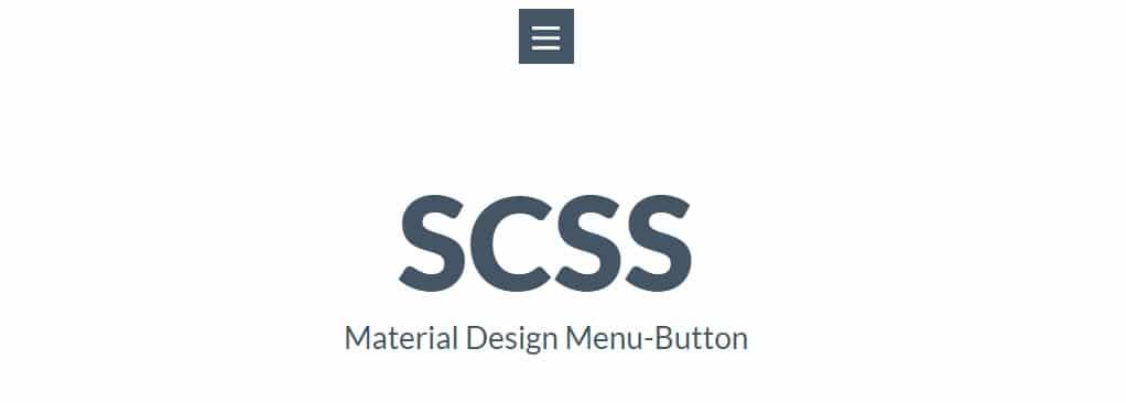 [SCSS] Configurable animated Material Design Menu Button
