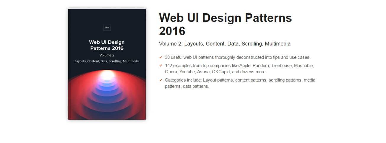Web UI Patterns 2016 (Vol.2)