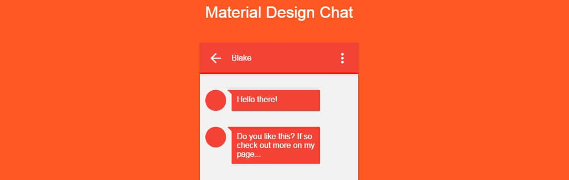 Material Design Chat