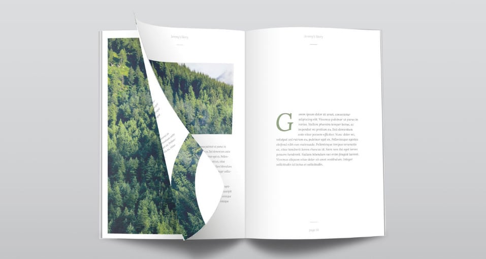 Ultra Clean Free PSD Magazine Mockup