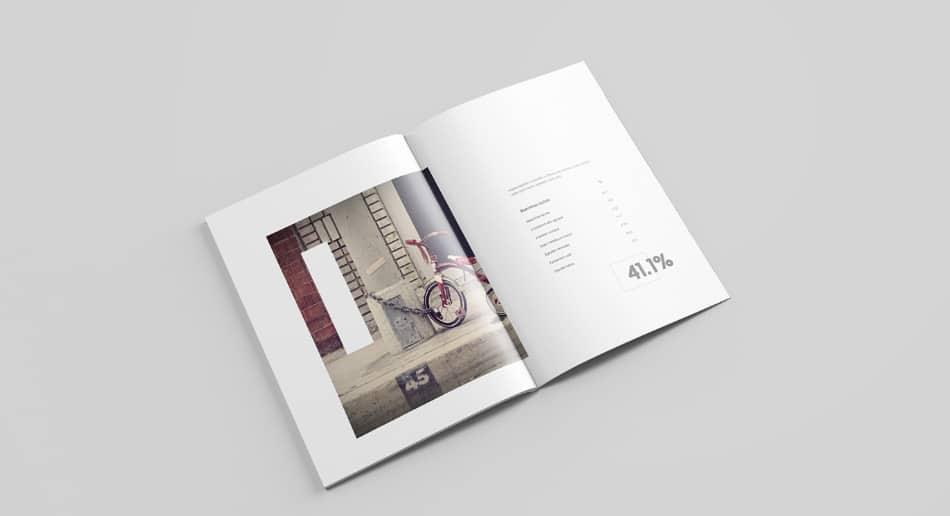 Letter Magazine Mockup