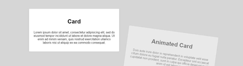 Material Design Cards