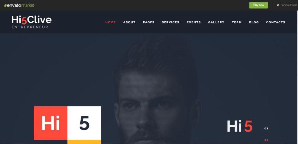 Hi5Clive - Digital Marketing Entrepreneur WordPress Theme
