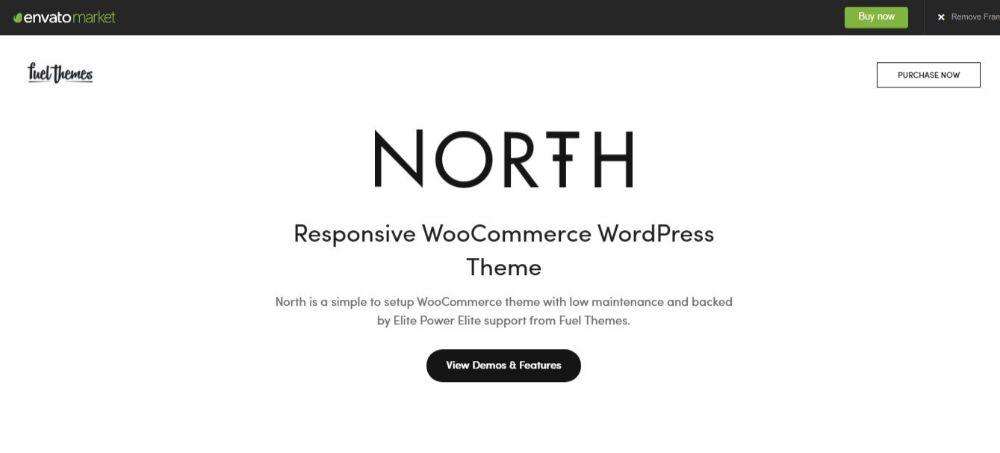 North-wooCommerce theme