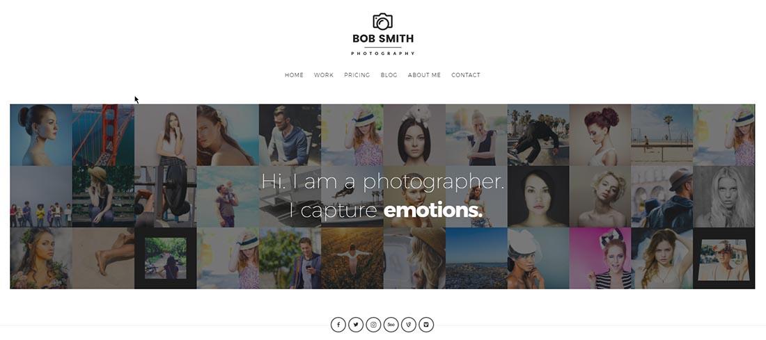 Photographer Responsive WordPress Theme