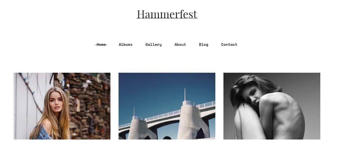 Hammerfest - Minimal creative WordPress photography theme