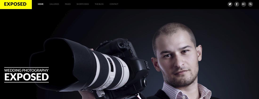 Exposed - Responsive WordPress Photography Theme