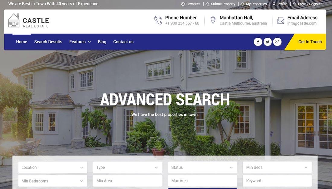 Castle - Real Estate WordPress Theme