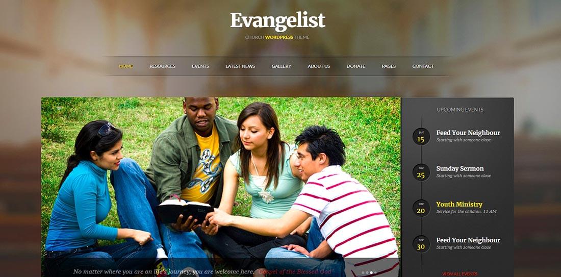 Evangelist _ Church WordPress Theme Demo