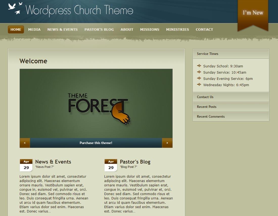 THE MOLITOR Church Church WordPress Theme