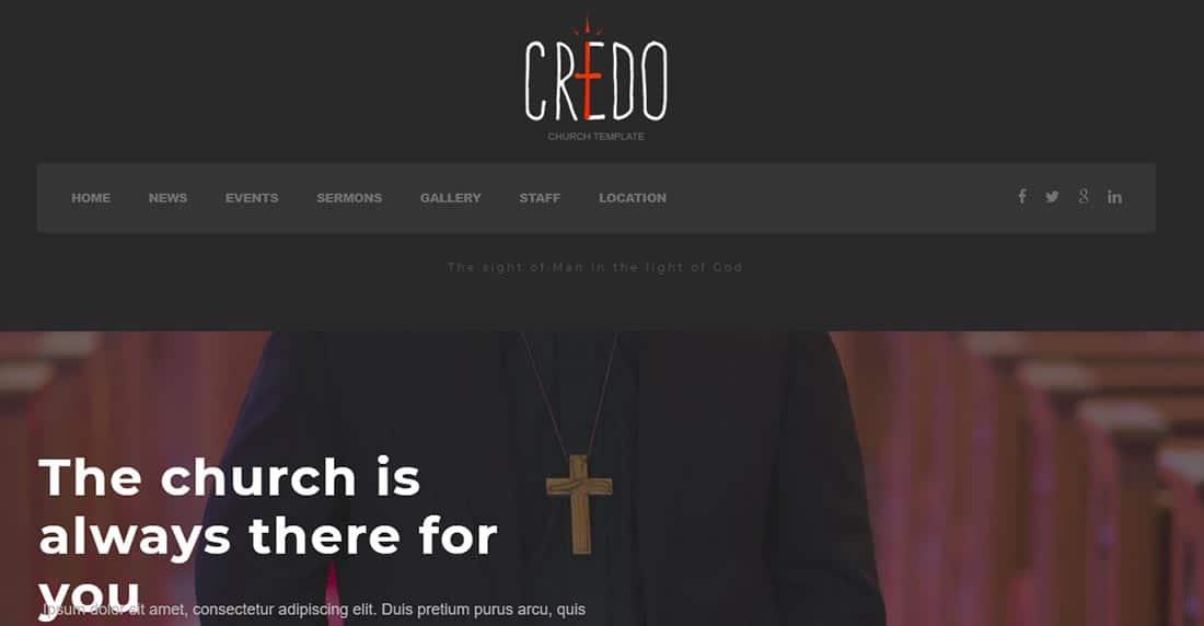 Credo - Church WordPress Theme