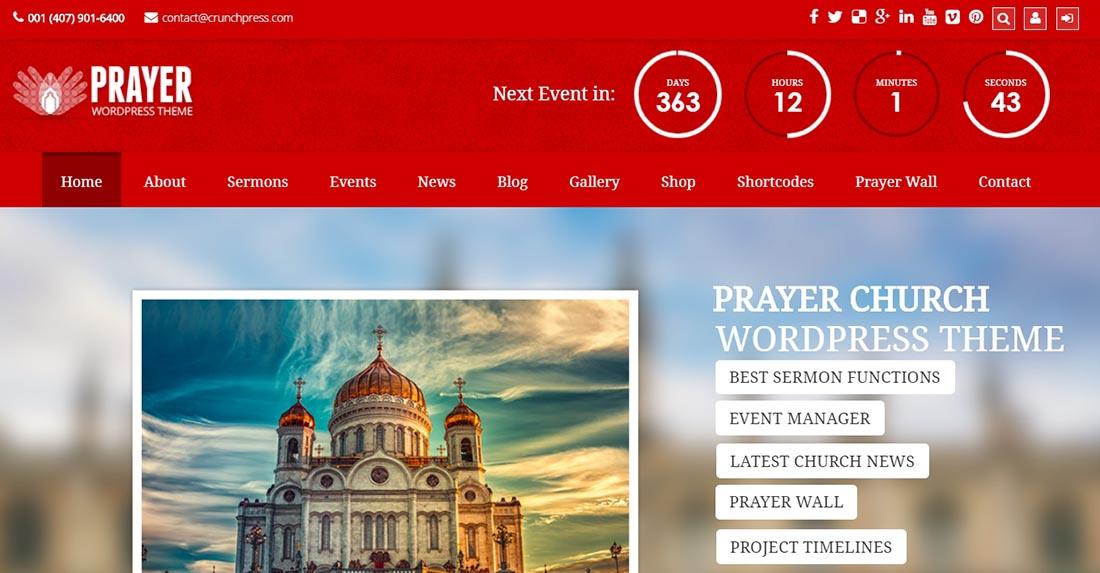 Prayer - Church Responsive WordPress Theme