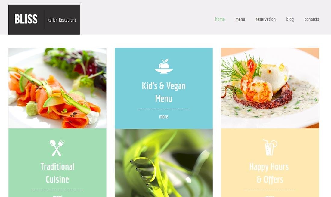 Free HTML5 Theme for Restaurant Website Website Template Simple Website Template