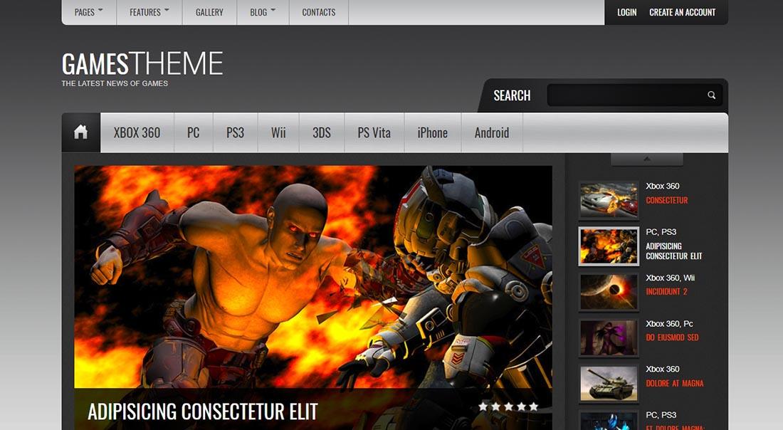 GamesTheme Premium HTML5_CSS3 Template