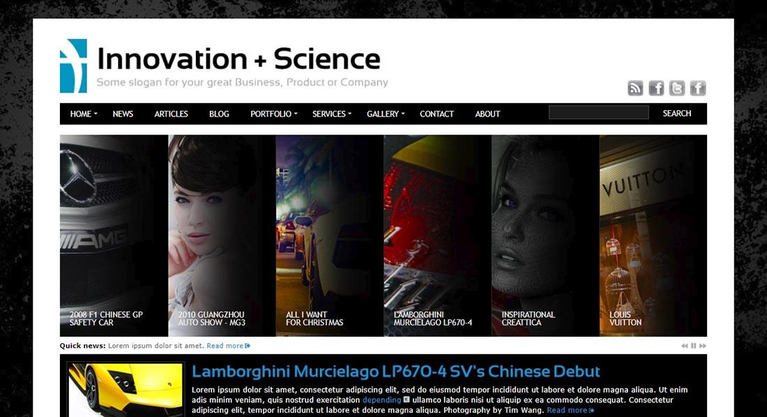 Innovation+Science Theme Portfolio & Business HTML / PHP
