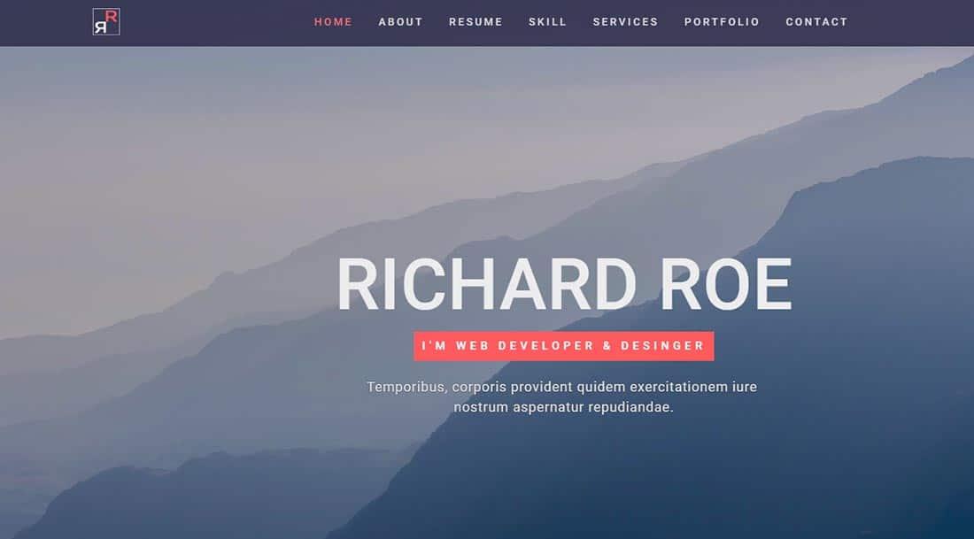 Avior - Responsive Portfolio Template Preview - ThemeForest PHP template for web designers