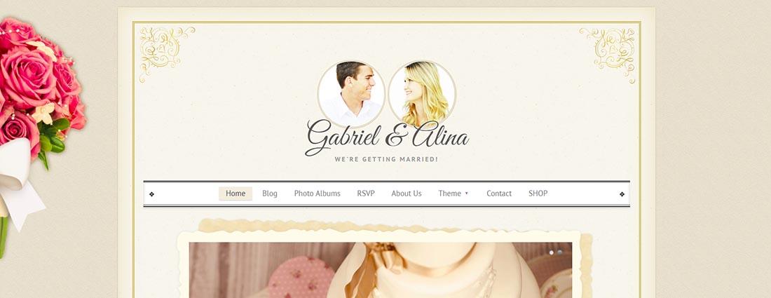 Vintage Wedding WordPress Vintage WordPress Theme