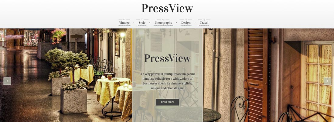 CWS _ PressView Vintage WordPress Theme