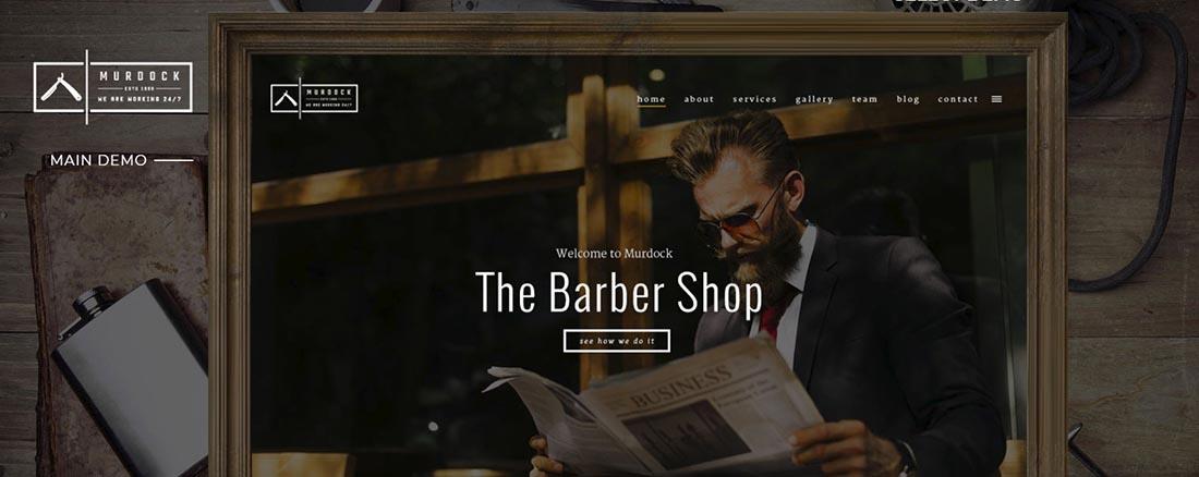 Murdock - Barbershop & Hair Salon Vintage WordPress Theme