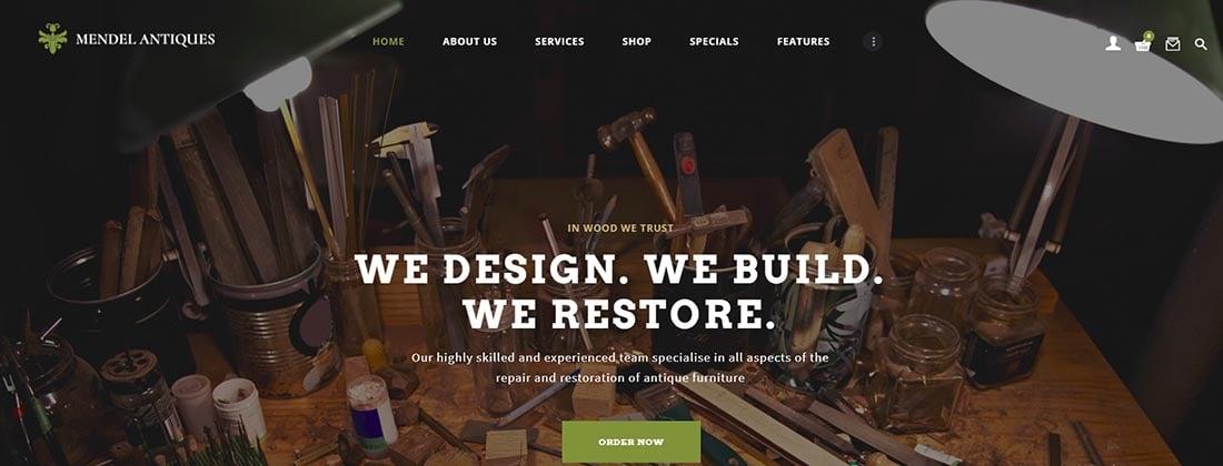 Mendel _ Furniture Design Vintage WordPress Theme