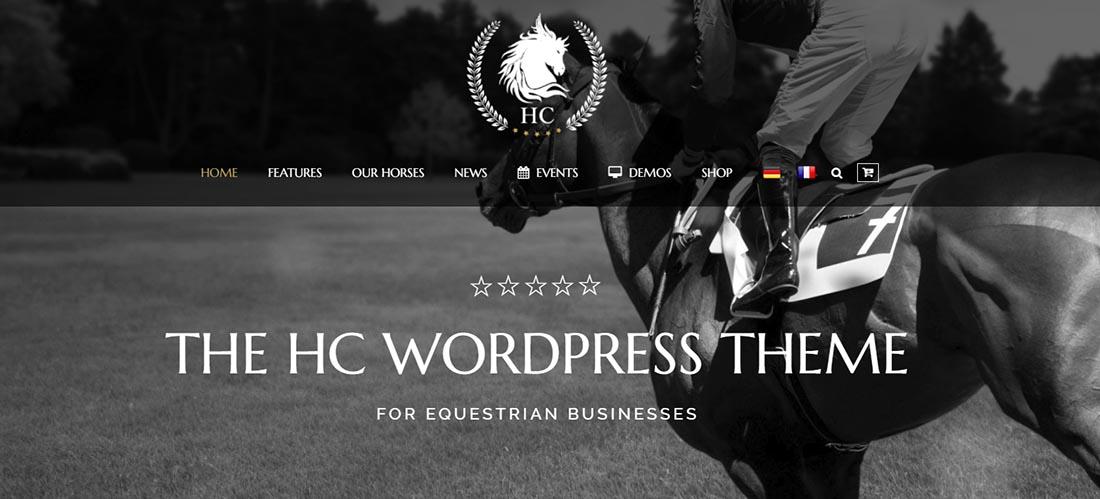 Horse Club - Equestrian Vintage WordPress Theme