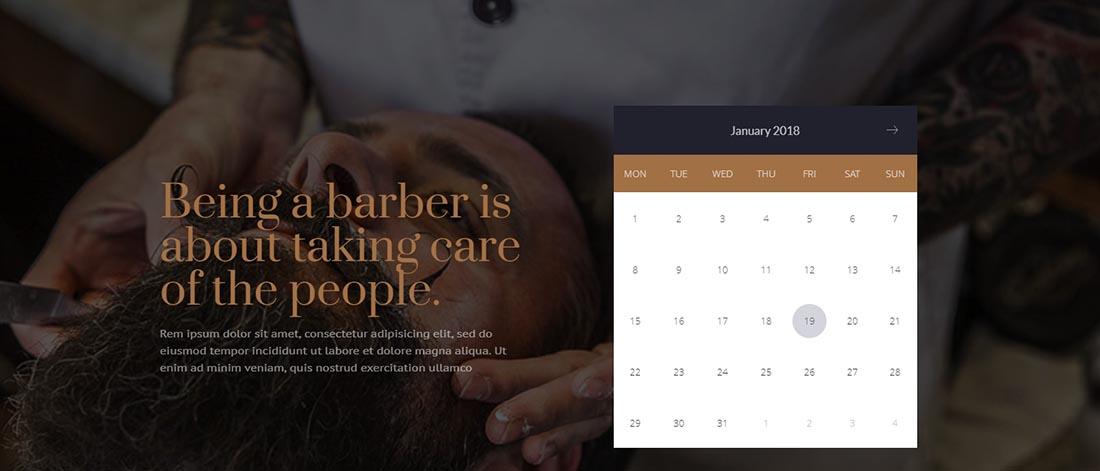 Vintage WordPress Theme barbershop-pro